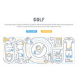 banner golf vector image vector image