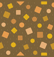 biscuitcraker and polka dot seamless pattern back vector image vector image