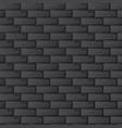 black brick wall vector image vector image