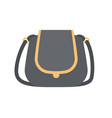 black modern handbag with elegant golden elements vector image