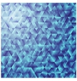 Blue triangular background colorful mosaic vector image vector image