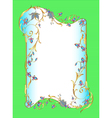 bright green background floral frame vector image vector image