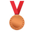 Bronze medal isolated on white vector image vector image