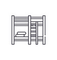 bunk bed line icon concept bunk bed linear vector image vector image