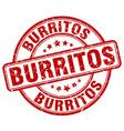 burritos red grunge round vintage rubber stamp vector image vector image