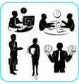 Businessman and businesswoman set vector image