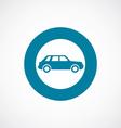 car icon bold blue circle border vector image vector image