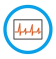 Cardiogram Rounded Icon vector image vector image