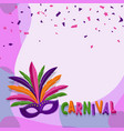 carnival backgroundbrazillian parade poster vector image