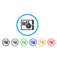 charts on pda rounded icon vector image vector image