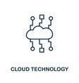 cloud technology icon thin outline style design vector image