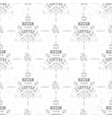 coffee seamless pattern grains of coffee cup of vector image vector image