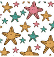 color starfish background icon vector image vector image