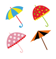 Colorful with umbrellas vector image