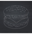 Delicious and appetizing hamburger vector image