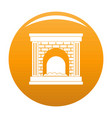 fireplace for fire icon orange vector image vector image