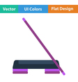 Flat design icon of Step board and stick vector image vector image