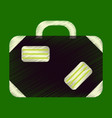 flat icon in shading style suitcase vector image vector image