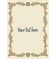 Frame in warm colours vector image