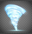 glowing tornado with lightning vector image