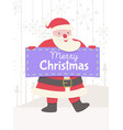 greeting card with santa claus and banner vector image vector image