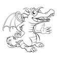 happy cartoon dragon vector image vector image