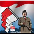 hari ulang tahun indonesia merdeka vector image vector image
