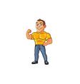 Hunk Cartoon Mascot vector image vector image