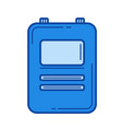 medical records line icon vector image