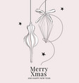 merry christmas hand drawn card with new year vector image vector image