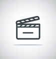 Modern media web icon Movie clap vector image vector image