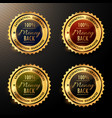 money back guarantee badges set collection vector image vector image