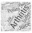 Natural Remedies for Arthritis Word Cloud Concept vector image vector image