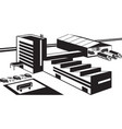 office manufacturing and warehouse industrial vector image