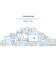 online exam - modern line design style web banner vector image vector image