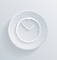 paper circle flat icon with a shadow clock vector image vector image