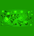 pattern of lime plant elements on a light green vector image