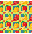 pattern of strawberry apple orange pear vector image vector image