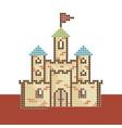 pixel-castle vector image vector image