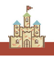 pixel-castle vector image
