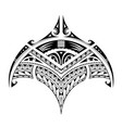polynesian ethnic style tattoo for bicep area vector image vector image