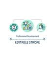 professional development concept icon