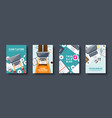 programming coding flat style covers set vector image