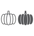 pumpkin line and glyph icon vegetable and food vector image vector image