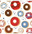 seamless pattern with patriotic donuts vector image