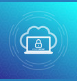 secure cloud access network protection vector image vector image