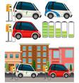 set of electric car vector image vector image