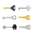 Set of keys for locks and doors vector image