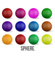 set realistic collection colorful glossy vector image