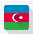 Simple flat icon Azerbaijan flag vector image vector image